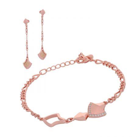 Σετ βραχιόλι-σκουλαρίκια Visetti